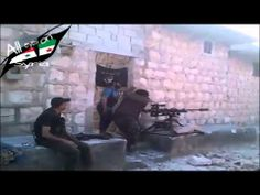 FSA use homemade heavy sniper 23 to kill Syrian soldiers in Aleppo