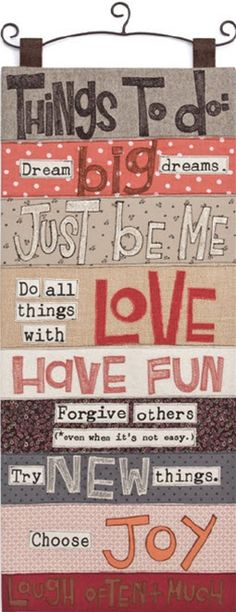 Things to do: Dream big dreams Just be me Do all this with love Have Fun Forgive others Try new things Choose joy Laugh more often Great Quotes, Quotes To Live By, Me Quotes, Inspirational Quotes, Just In Case, Just For You, Maryland, Choose Joy, Messages