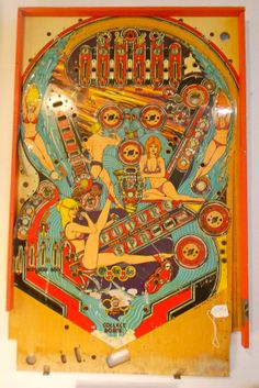 Future Spa vintage pinball machine playfield by hazelhome on Etsy, $100.00