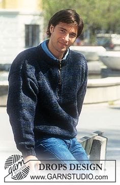 DROPS Sweater in Double Alpaca in Women's and Men's sizes. ~ DROPS Design