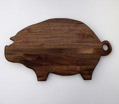 Wood Pig Shape Cutting Board Walnut Wood