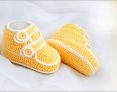 Crochet patterns (PDF) - Baby Boy Booties - Pattern number 01