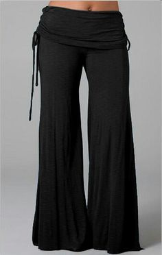 Women Long Flared Wide Leg Pants 2018 Summer Ladies Casual Loose Trousers Layers Fashion Solid Culottes Plus Size Looks Style, My Style, Flat Style, Ethno Style, Look Fashion, Womens Fashion, Latest Fashion, Comfy Pants, Culottes