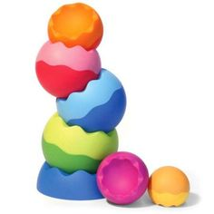 Fat Brain Toys - Tobbles Stacking Toy, Neo