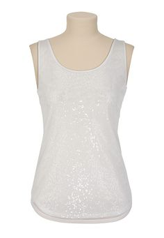 Mesh and Sequin Tank