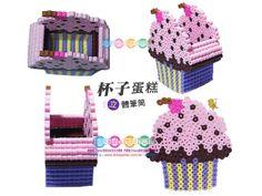 Cupcake holder perler beads