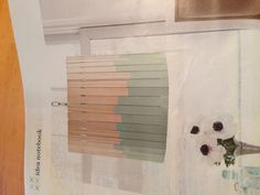 DIY Lampshade with paint sticks