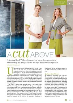Our Uniforms in Professional Spa & Wellness Magazine