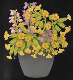 John Hall Thorpe (1874-1947) - Cowslips, 1922 - Woodcut