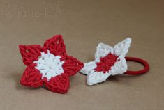Crochet Flower Hair Ties