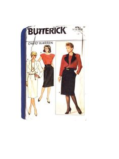 Butterick 4091 Women's Dress and Jacket Pattern by DonnaDesigned
