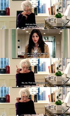 Image shared by catarina. Find images and videos about vogue, Anne Hathaway and meryl streep on We Heart It - the app to get lost in what you love. Tv Show Quotes, Movie Quotes, Life Quotes, Movies Showing, Movies And Tv Shows, Lights Camera Action, Devil Wears Prada, Chick Flicks, Star Wars