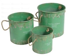 green buckets Watering Can, Moscow Mule Mugs, Home Deco, Shabby Chic, Diy, Tableware, Green, Inspiration, Buckets