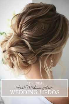 30 Top Wedding Updos For Medium Hair ❤ Wedding updos for medium hair will be one of the best solutions, they always look trendy and romantic. Pick the most appropriate variant from our new list! #wedding #hairstyles #weddinghairstyles #weddingupdosformediumhair Wedding Hairstyles For Medium Hair, Up Dos For Medium Hair, Braided Hairstyles Updo, Bride Hairstyles, Hairstyle Ideas, Hairstyle Tutorials, Romantic Wedding Hairstyles, Curly Updos For Medium Hair, Medium Length Bridal Hair