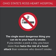 #Smoking puts your #heart in great danger. #QuitSmoking