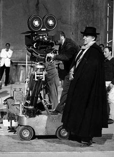 Federico Fellini filming 8½