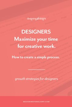 Designers and freelancers, are your design projects not going the way you planned? I've mapped out, in detail, my entire design process for you. Use it to create your own client design process. Click through to grab the design process master checklist just for freelance graphic and web designers.