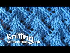 Watch this video to learn how to knit the Zig Zag Lace Stitch