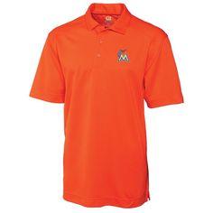 Miami Marlins Cutter & Buck Big & Tall DryTec Genre Polo - Orange