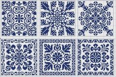 More square tiles - Chart for cross stitch or filet crochet.