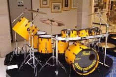 Dennis Chambers Yellow Pearl Drums