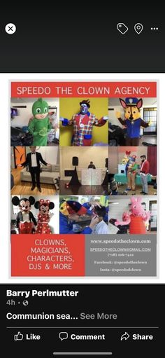 Clowns For Kids, Rooms For Rent, Communion, The Magicians, Party, Character, Parties, Lettering, Community