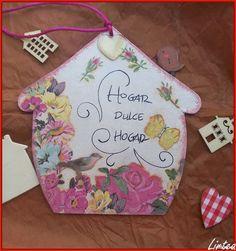Home sweet home, hogar dulce hogar, carteles hogar dulce hogar, cartel para la puerta, como hacer un cartel para la puerta de casa, decoupage sobre cartan, vandral #zz #zwyanezade