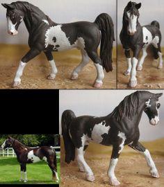repainted schleich Tennessee Walking Horse gelding