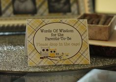 Owl Theme (Yellow and Gray) Baby Shower Party Ideas | Photo 2 of 21 | Catch My Party