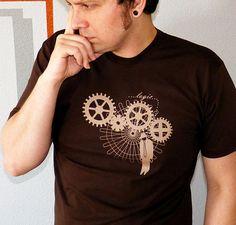 Logic Men's Tshirt - Steampunk Tee Shirt for Men - Gifts for Men