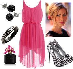 """Hot Pink & Zebra Print"" by qtpiekelso on Polyvore"
