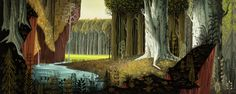 """master-painters: """" Eyvind Earle - Background painting for """"Sleeping Beauty"""" - 1959 """""""