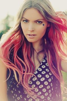 I wish I was brave enough to do this!!! - c    (pink ombre. hair by paris wimbley.)