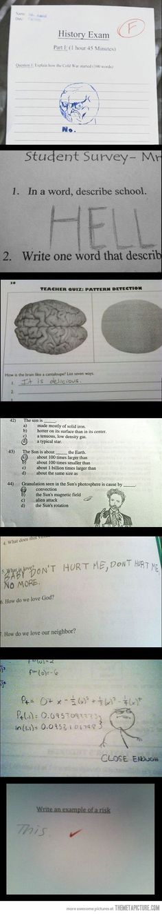 Funny test answers - The Meta Picture