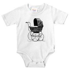 Victorian Baby Carriage onesie...  would be cute with a little black tutu and black and silver flats :)