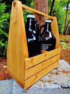 Beer Growler Carrier/Rack.  Home Brew & Craft Beer Specialty Item. on Etsy, $45.00