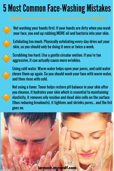 Avoid these 5 common mistakes! Some great tips for washing your face. For more skincare tips, product specials, & giveaways from me & the Doctors, like my Facebook page. -Leah Armock, Rodan + Fields Independent Consultant
