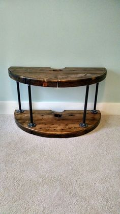 Wire spool TV stand.