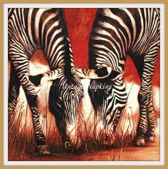 DECOUPAGE Paper Napkin Tissue Paper Collectibles Scrapbooking Crafts - AFRICAN Zebra by VintageNapkins on Etsy