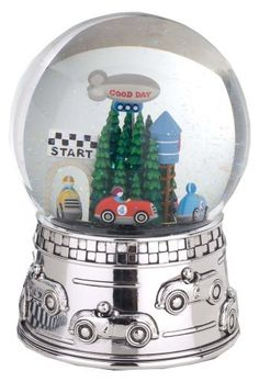 Reed & Barton Race Car Musical Water Globe, plays Star Spangled Banner by Reed & Barton. $32.00. Elegantly Gift Boxed. Revolving Musical. Reed & Barton Silverplated Race Car Waterglobe.  Cars revolve around the speedway beneath a whirlwind of shimmering glitter, plays Star Spangled Banner.