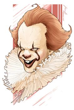 Pennywise, IT (2017). #fanart #pennywise #it #itmovie #billskarsgard #billskarsgård #clown #horror