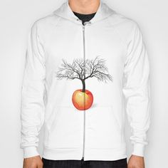 apple tree from fruit Hoody by vladimirceresnak Buy Apple, Apple Tree, Hoodies, Sweatshirts, Kangaroo, Zip Ups, Crafting, Articles, Cozy