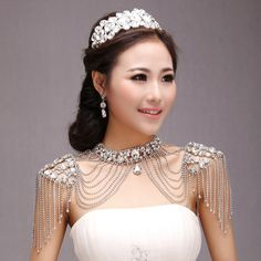 Find More Information about Tube top wedding dress the bride necklace chain fashion lace rhinestone shoulder strap crystal formal dress diamond tassel,High Quality dress skull,China dress mini Suppliers, Cheap dress for success women from The Temptation Of Eve  on Aliexpress.com