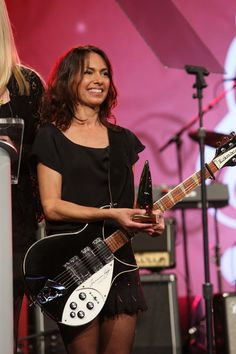 """Susanna Hoffs Photos - Susanna Hoffs of """"The Bangles"""" attends the 2015 National Association of Music Merchants show at the Anaheim Convention Center on January 2015 in Anaheim, California. - NAMM Show: Day 2 Z Music, Music Pics, Music Is Life, Female Guitarist, Female Singers, Jewel Singer, Susanna Hoffs, Michael Steele, Anaheim Convention Center"""