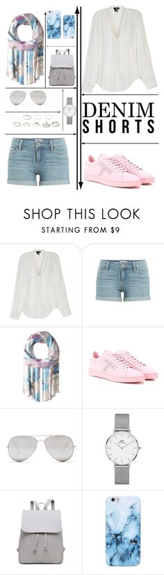 """""""Denim 😍😍"""" by lost-diamond ❤ liked on Polyvore featuring Paige Denim, Bindya, Tod's, Sunny Rebel and Daniel Wellington"""