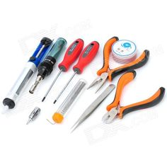 WLXY WL2806A 10-in-1 Mini Gas Soldering Iron Kit. Brand WLXY Model WL2806A Quantity 1 Color Red + Blue + Orange Material No. 55 Steel + Plastic Features Tool kit Application Suitable for repairing projects Power Supply Gas Packing List 1 x Sharp tip tweezer 1 x Gas soldering iron 1 x Philips scrwdriver 1 x Slotted screwdriver 1 x Diagonal Cutting Plier 1 x Long Nose Plier 1 x Desoldering pump 1 x Gas soldering iron 1 x Hydrogenated rosin 1 x Zipped carrying pouch. Tags: #Electrical #Tools…