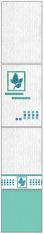 Millennium Tiles 200x300mm (8x12) Luster Concept Design Ceramic Wall Tiles - 279 - 278 - 277 - Aqua Marine