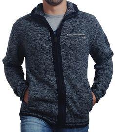 TimeZone peer Knit Jacket-Blue Grey