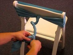 How To Tie Rosette Chair Ties...doing this with my burgundy sash for that rose look!
