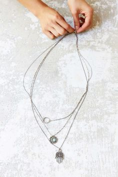 Delicate layered necklaces like this one are hot for this season! Check out this one here. Lucky Brand also has a great selection!